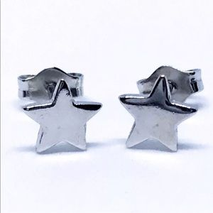 14k white gold layered on 925 Sterling Earring